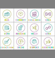 mail and comment poster set vector image vector image