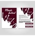 Music festival brochure flier design template vector image vector image