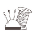 needle and thread tailor shop design vector image