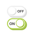 on and off toggle switch buttons modern 3d flat