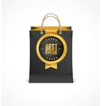 paper bag and gold label Best Choice vector image vector image