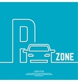 pointer to car parking zone vector image