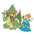 Princess and Dragon vector image