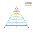 Pyramid triangle with 7 steps levels vector image vector image
