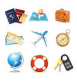 realistic 3d detailed travel and tourism color vector image