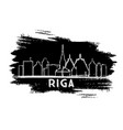 riga latvia skyline silhouette hand drawn sketch vector image vector image