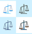 scales icon set in flat and line styles vector image vector image