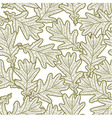 seamless pattern from oak leaves vector image vector image