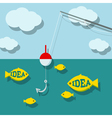 Search ideas concept vector image vector image