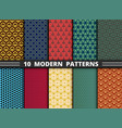 set abstract modern pattern design colorful vector image vector image