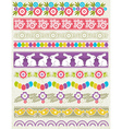 Set of Lace Paper with flower an easter eggs vector image vector image