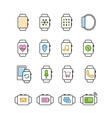 Set of smart watch icons Smartwatch vector image vector image