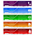 set of torn paper color banners vector image vector image