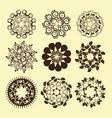 set of vintage design elements9 vector image vector image