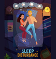 sleeping poses poster vector image