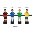 Table football game foosball soccer player set vector image vector image