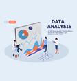 team data analysis concept vector image