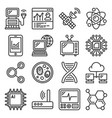 technology and science icons set on white vector image vector image