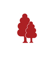 tree forest icon vector image vector image