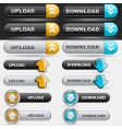 upload and download button set vector image