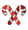 white background with christmas candy cane with vector image vector image