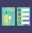 wine map pages templates with bottle on cover vector image vector image