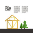 wooden house building vector image