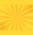 yellow retro vintage style background vector image