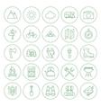 Line Circle Camping Icons Set vector image