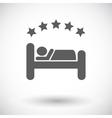 Hotel single flat icon vector image