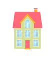 icon of green house isolated on white vector image