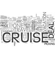 a fabulous cruise deal how to find one text word vector image vector image