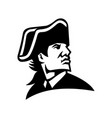 american revolution general looking to side vector image vector image
