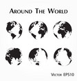 around world outline world map vector image vector image