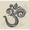 Aum Om symbol vector image