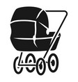 baby carriage in perspective icon simple style vector image vector image