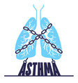 banner bronchial asthma chain-bound vector image