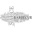 bbq from the carolinas text word cloud concept vector image vector image