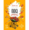 BBQ Party Announcement Flat Poster vector image vector image
