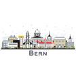 bern switzerland city skyline with color vector image vector image