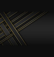 black and gold overlapped stripes background vector image vector image