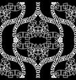 black and white ornamental vintage greek vector image
