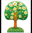 blooming tree ecological icon concept vector image
