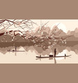 branch of blossoming tree vector image vector image