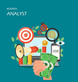 business analyst flat style design vector image