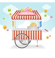 Candy Cart Market Card vector image vector image