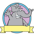 Cartoon elephant with a banner vector image vector image