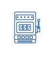 casino slot machine line icon concept casino slot vector image vector image