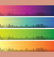 chongqing multiple color gradient skyline banner vector image vector image