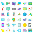 computer information icons set cartoon style vector image vector image